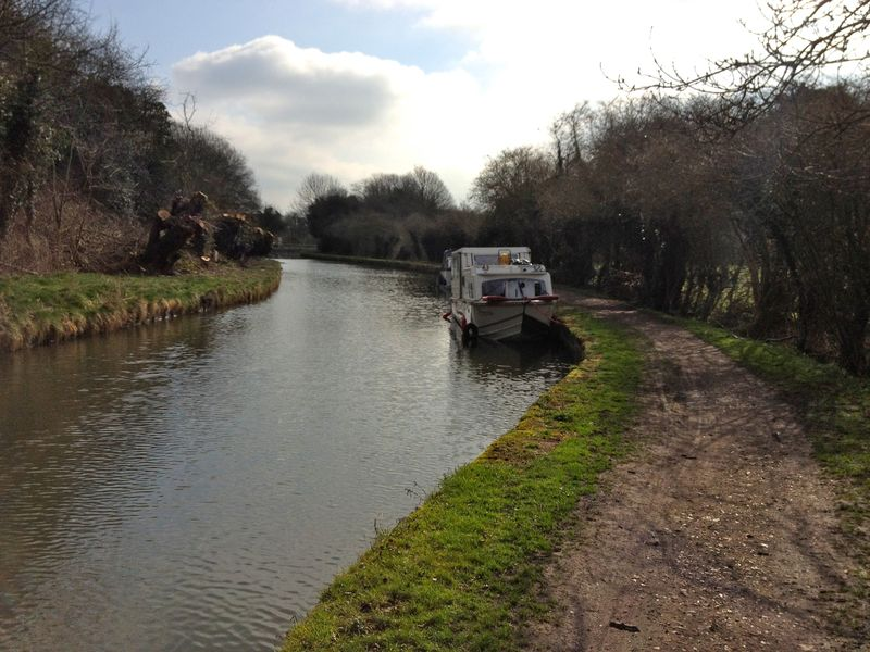 quiet bike route along Grand Union Canal