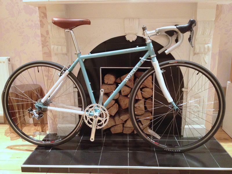 blue 46cm Surly Cross Check part built