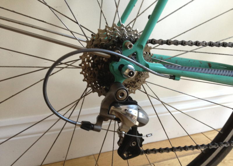 Shimano Ultra 12-30 cassette on Bob Jackson World Tour
